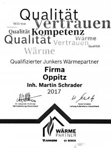 Zertifikat Wärmepartner